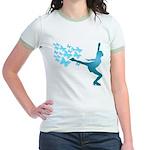 Butterfly Ice Skating Jr. Ringer T-Shirt