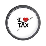 """I Love Tax"" Wall Clock"