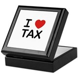 """I Love Tax"" Keepsake Box"