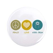 "Peace Love Steel Drum 3.5"" Button (100 pack)"