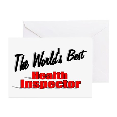 """The World's Best Health Inspector"" Greeting Cards"