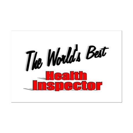 """The World's Best Health Inspector"" Mini Poster Pr"