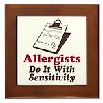 Allergist Immunologist Framed Tile