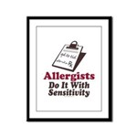 Allergist Immunologist Framed Panel Print