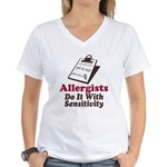 Allergist Immunologist Women's V-Neck T-Shirt