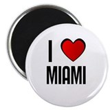 "I LOVE MIAMI 2.25"" Magnet (10 pack)"