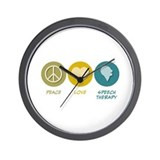 Peace Love Speech Therapy Wall Clock
