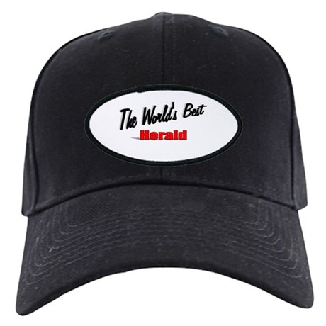 """ The World's Best Herald"" Black Cap"