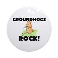 Groundhogs Rock! Ornament (Round)