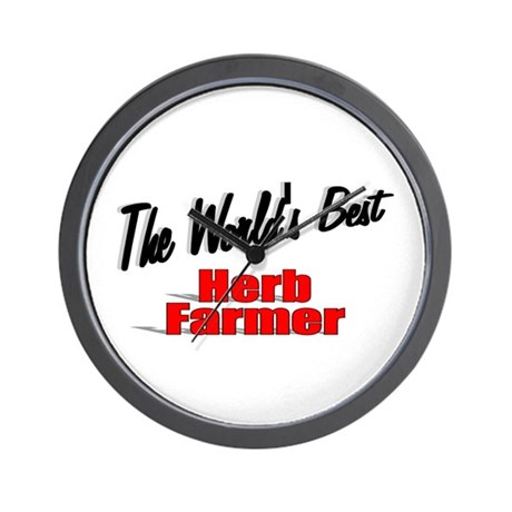 """The World's Best Herb Farmer"" Wall Clock"
