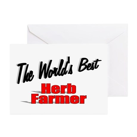 """The World's Best Herb Farmer"" Greeting Cards (Pk"