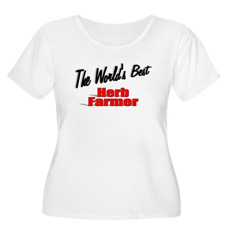"""The World's Best Herb Farmer"" Women's Plus Size S"