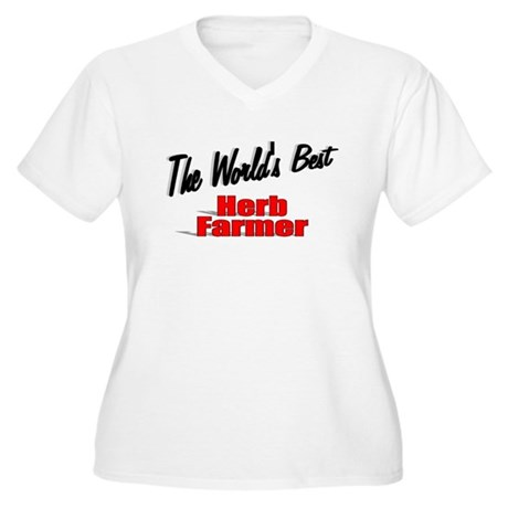 """The World's Best Herb Farmer"" Women's Plus Size V"