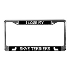 I Love My Skye Terriers (PLURAL) License Frame