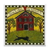 Primitive Labrador Tile Coaster