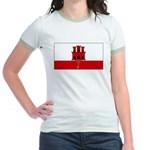 Gibraltar Blank Flag Jr. Ringer T-Shirt