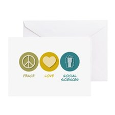 Peace Love Social Sciences Greeting Card