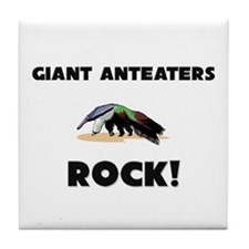 Giant Anteaters Rock! Tile Coaster