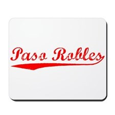 Vintage Paso Robles (Red) Mousepad
