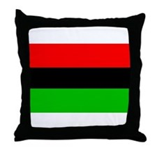 African American Flag Throw Pillow