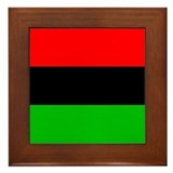 African American Flag Framed Tile
