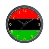 African American Flag Wall Clock