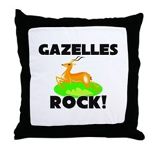 Gazelles Rock! Throw Pillow