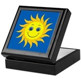 Smiling Mr. Sun Keepsake Box