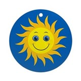 Smiling Mr. Sun Ornament (Round)