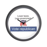 Vote Republican Wall Clock