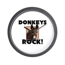 Donkeys Rock! Wall Clock