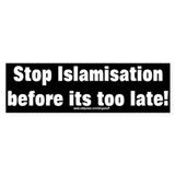 &quot;Stop Islamisation&quot; Bumper Stickers