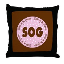 Polka Dot Groom's Sister Throw Pillow