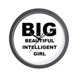 Beautiful Intelligent Girl Wall Clock