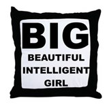 Beautiful Intelligent Girl Throw Pillow