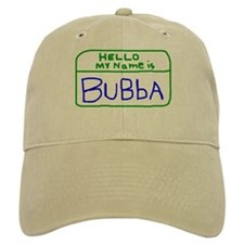 HELLO MY NAME IS Bubba handscrawled Baseball Cap