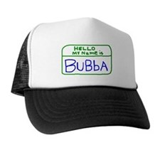 HELLO MY NAME IS Bubba handscrawled Trucker Hat