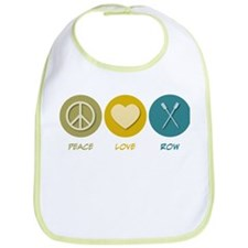 Peace Love Row Bib
