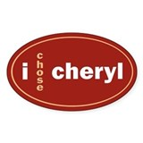 CHERYL 1.0 Oval Decal