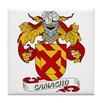 Camacho Family Crest Tile Coaster