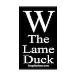 W: The Lame Duck (bumper sticker)