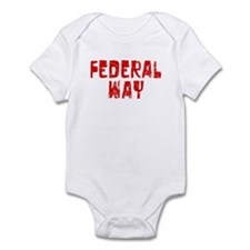 Federal Way Faded (Red) Infant Bodysuit