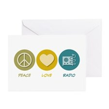 Peace Love Radio Greeting Cards (Pk of 20)