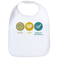 Peace Love Quality Assurance Bib