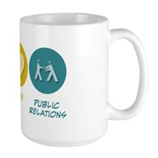 Peace Love Public Relations Mug