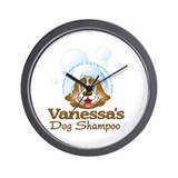 Vanessa's Dog Shampoo Wall Clock