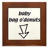 baby bag o'donuts Framed Tile