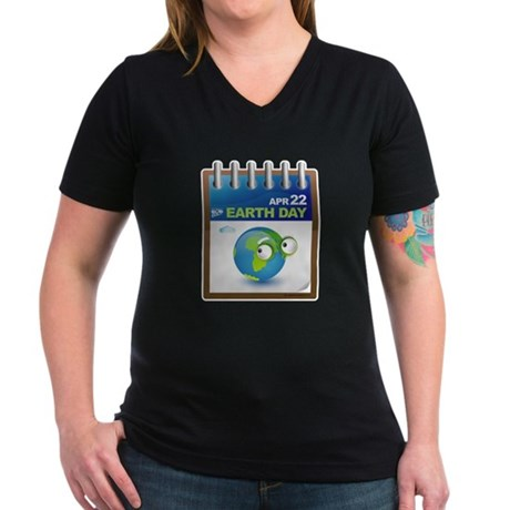 Earth Day - Diary Women's V-Neck Dark T-Shirt