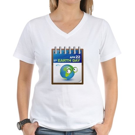 Earth Day - Diary Women's V-Neck T-Shirt