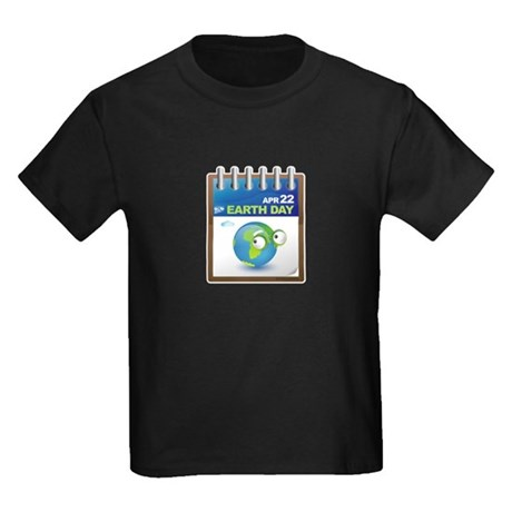 Earth Day - Diary Kids Dark T-Shirt